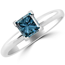 Blue Diamond Engagement Rings
